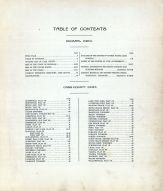 Table of Contents, Cass County 1914